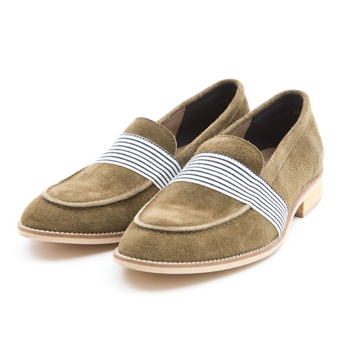 ARGIS Japan will yuppie gentleman loafers -31 111 handmade shoes made of dark green [Japan]
