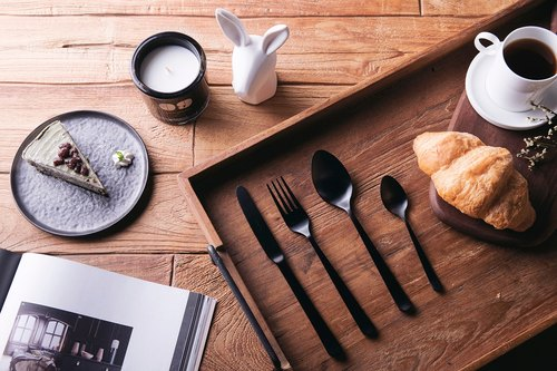 [Portuguese HERDMAR century tableware gift box] Oslo four groups - fog black