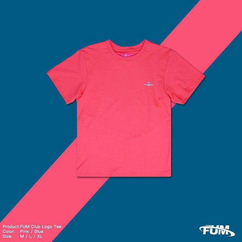 【FUM】小LOGO TEE 螢光粉紅 輕薄 吸汗 快乾 短袖 #品牌運動支線