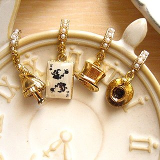 [Jolie baby] Alice tea party perspective Series - Mad Hatter and the March Hare tea party earrings set