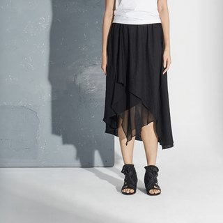 【In stock】Asymmetrical cotton and linen skirt