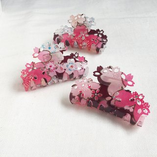 Sakura-Soft, 6.5cm Shark Clip, Gripper, Hair Clip - Red