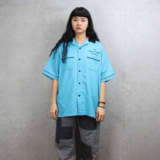 Tsubasa.Y ancient house bowling shirt 011, bowling shirt, short-sleeved shirt thin shirt