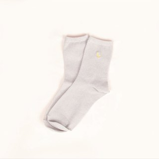 Moonlight Translucent Mesh Socks - White