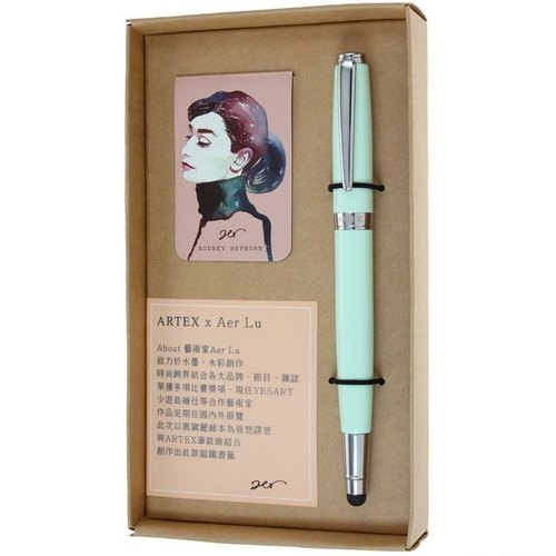 ARTEX life series dual-use touch ball pen Aer Lu / light green