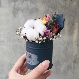 Cans dried flower bouquet cotton spot