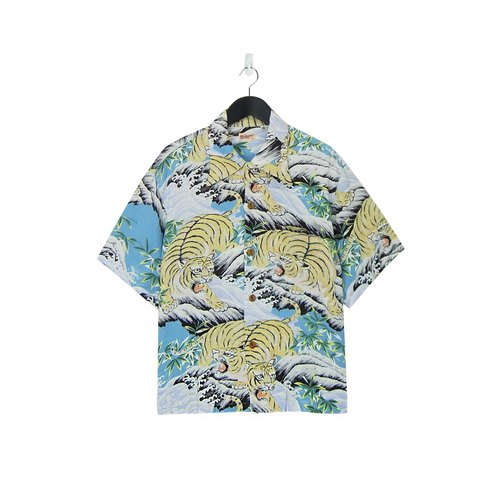 A‧PRANK: DOLLY :: retro VINTAGE (brand new) brand SUN SURF Japan and handle flower shirt (shallow blue end of the river side of the tiger)