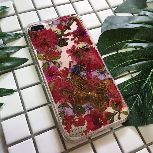 Buddha flower core :: embossed butterfly phone shell