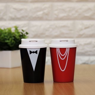 Portable heat coffee cups - ladies gentlemen + (2 / set)