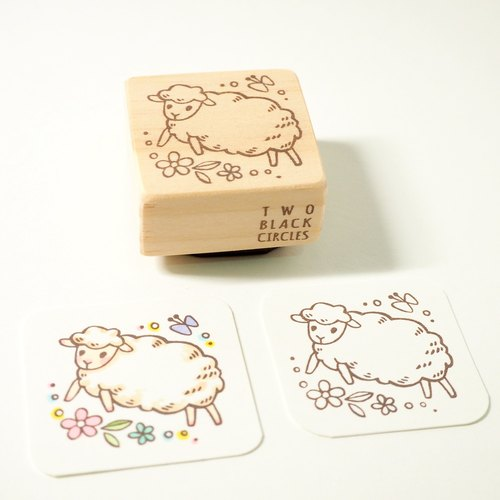 [Series] Beng Bengtiao little lamb Aries hand carved stamp offset