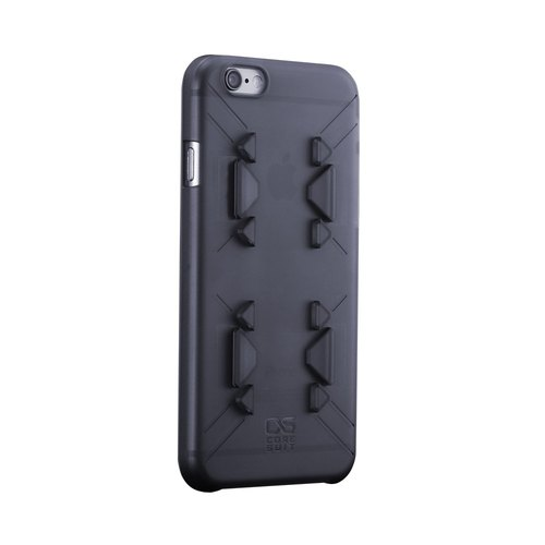 CORESUIT Base Lite-i6 / 6s thin transparent protective hard shell - Black Storm