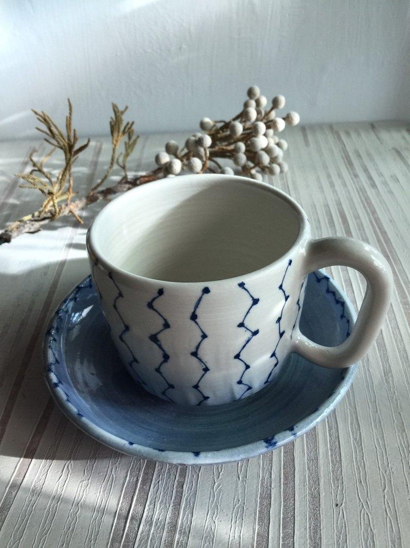 北斗七星白瓷咖啡杯盤組_陶器馬克杯