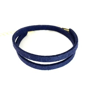 Dark blue - suede roping bracelet (also can be used as a necklace)