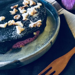 Sweet purple winter sweet potato cream cheese cake (6 inches / self-enjoy group / without plate / candle)