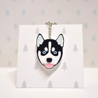 (Black and White) - Key Chain - Pet Accessories - Pet Charm - Hair Kids - Gifts - Custom - Acrylic - BU