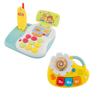 Goody Bag- fun recording phone + baby musical instrument (piano) value blessing bag combination