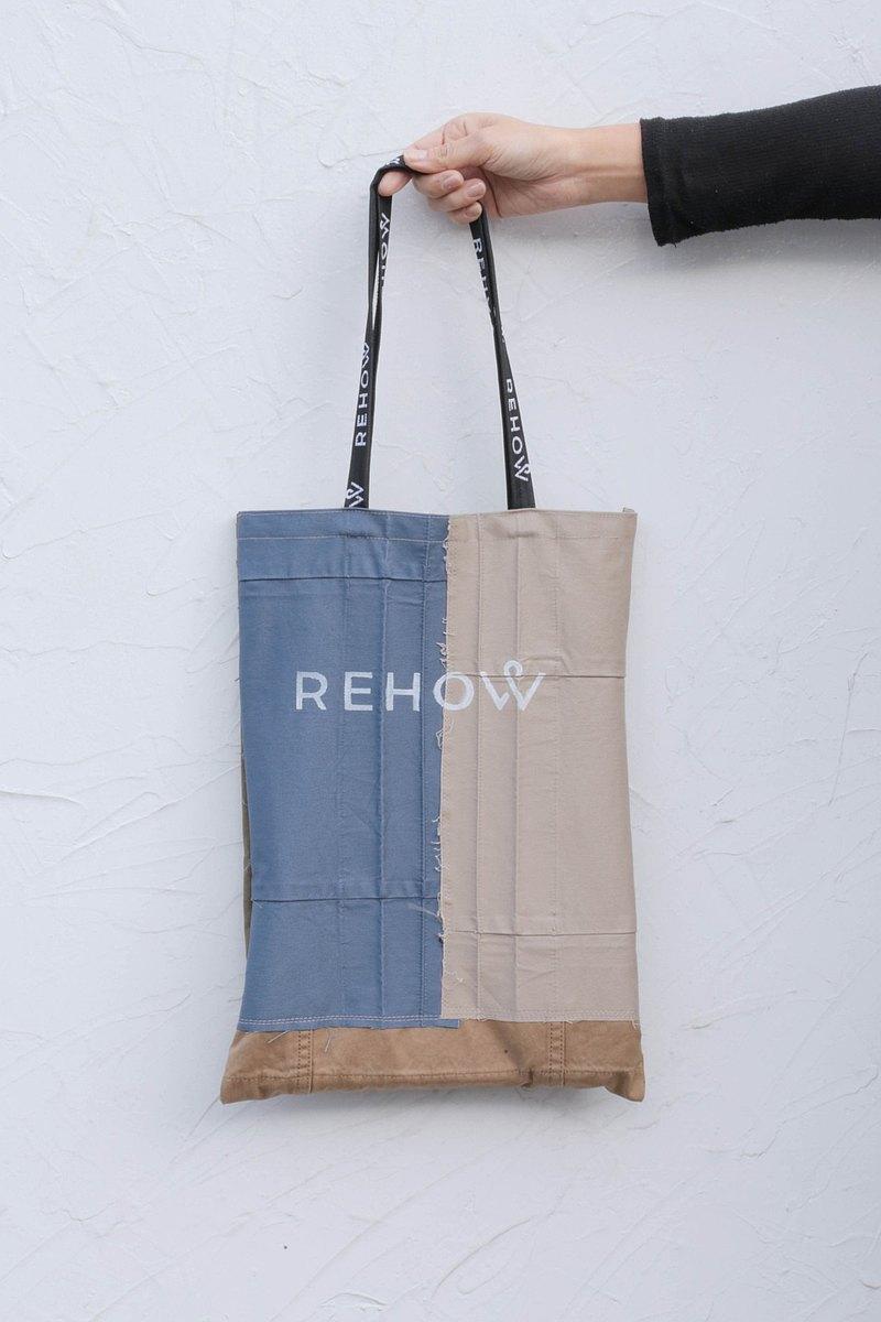 【永續改造】REHOW 設計師手提包_純手工製造 限量商品(雙面可背)
