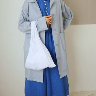 Powder Trench Coat Powder Blue Ash Season Cotton Warrt