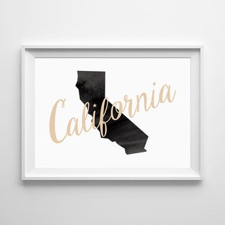 California map art Customizable posters
