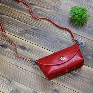 Wallet Pochette card storage 8 as it is Purse Red