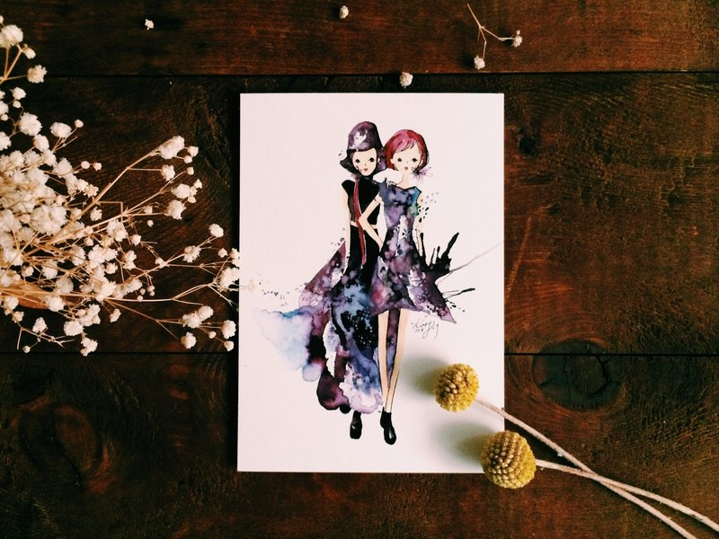 Render Series / Fashion Girl Postcards
