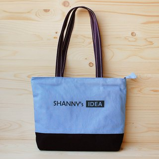 Customized _ double color canvas zipper shoulder bag