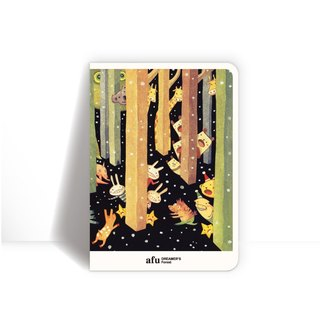 Afu notebook - checkered / dreamer forest