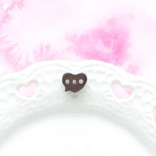 Talk wooden earring ( 925 sterling silver studs) one per purchase