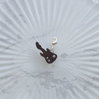 Electric guitar wooden charm