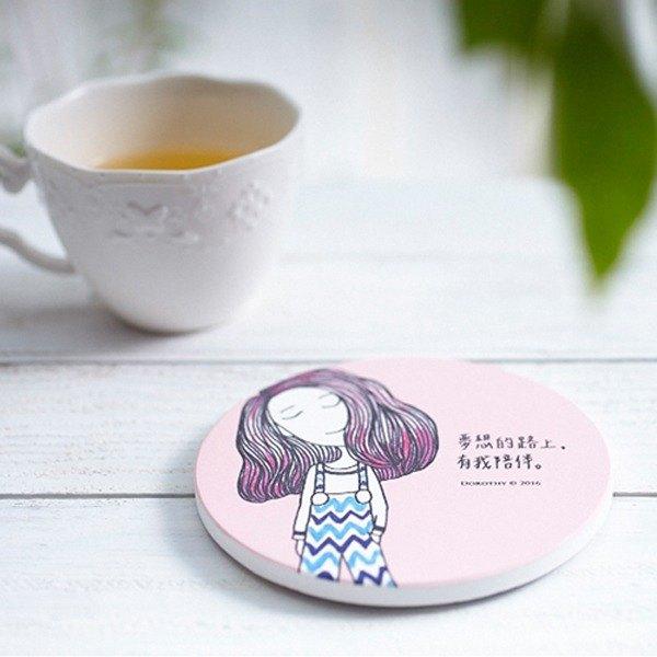 Dorothy陶瓷吸水杯墊-粉紅(9AAAU0042)