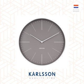 Karlsson 37.5cm wall clock Normann station warm grey, Design by Johannes Lindner
