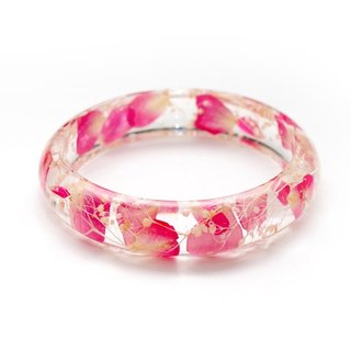 FlowerSays / Rose&Hydrangea Real Flower Bracelet  / Pink-Red Collection