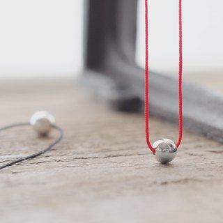 String ball necklace silver 925