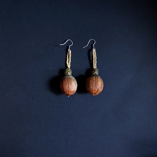 No.9 Large fruit Lagerstroemia earth wild fruit handmade vintage earrings
