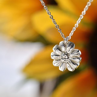 Flower Series/925 Sterling Silver/Necklace/Daisy