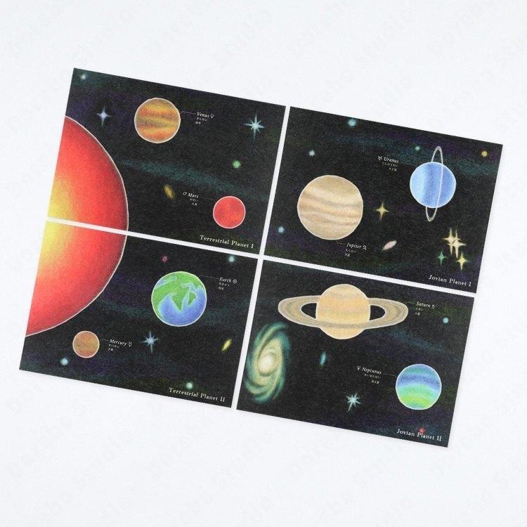 太陽系系列 太陽系明信片套組