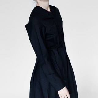 Origami Cotton Midi Shirt Dress <Handmade in Italy> Christmas sale 30% until 5th January!