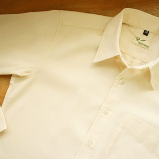 Organic cotton long-sleeved shirt (plain weave twill)