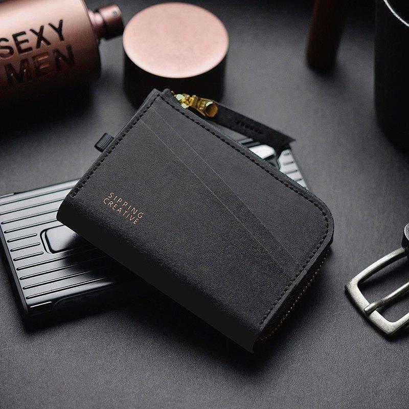 L型零錢包/短夾【可加購雷雕刻字】