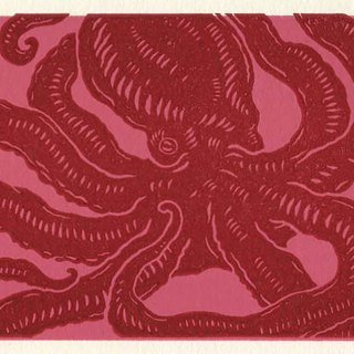 【 Red octopus 】 Printed postcard