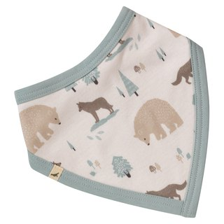 100% organic cotton wolves triangular mouth towel around the bib pocket