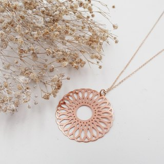 ✦ Tie ✦ Copper Plating ✦ Rose Gold ✦ Necklace / Long Chain / Long Chain / Sweater Chain