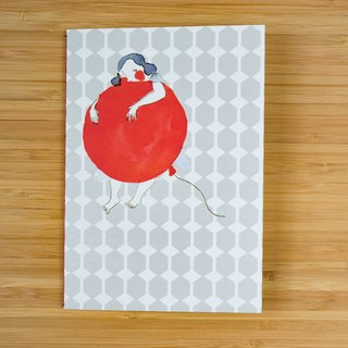 "Small Notebook / journal / B6 grid page diary - ""the red balloon"""