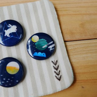 Universe universe series badge pin dark blue