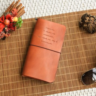 Personalised Traveller Notebook, Minimalist Handmade Leather Cover