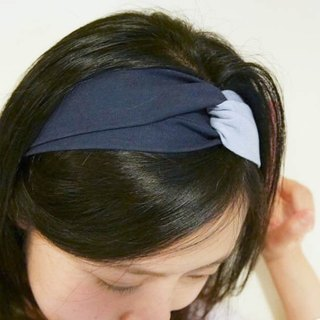 Dark blue light blue contrast hair band
