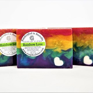 Australia Soap by Elena natural handmade soap - Rainbow Love