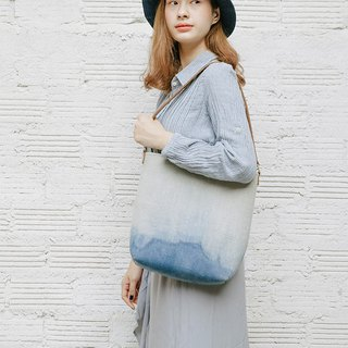 Indigo Dyed Shoulder bag, Linen Shoulder Bag