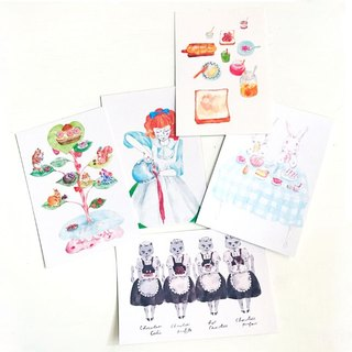 DeliciousFoods - 5 postcards