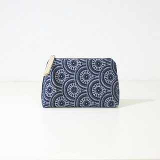 【The MAMA's Closet】Two Colors Denim Cotton (Eye of Sauron) / Cosmetic Bag ( Pouch )